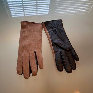 Merona wool leather gloves